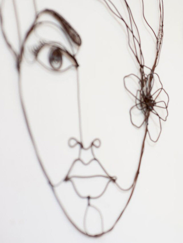 Wire Works by Yossi Peled - Face 3 - Eye – BabooSF