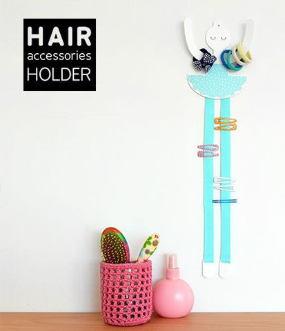 clips holder aqua ballerina