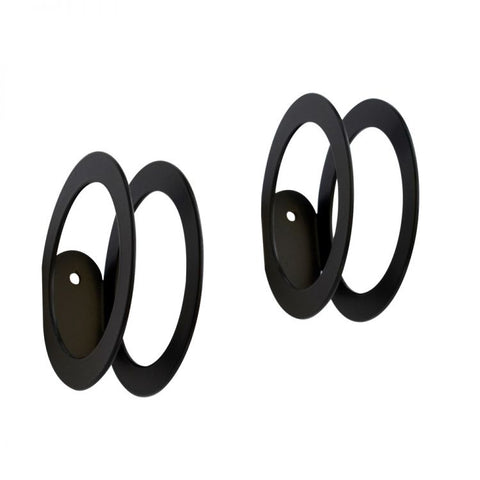 Two black circles wall hangers
