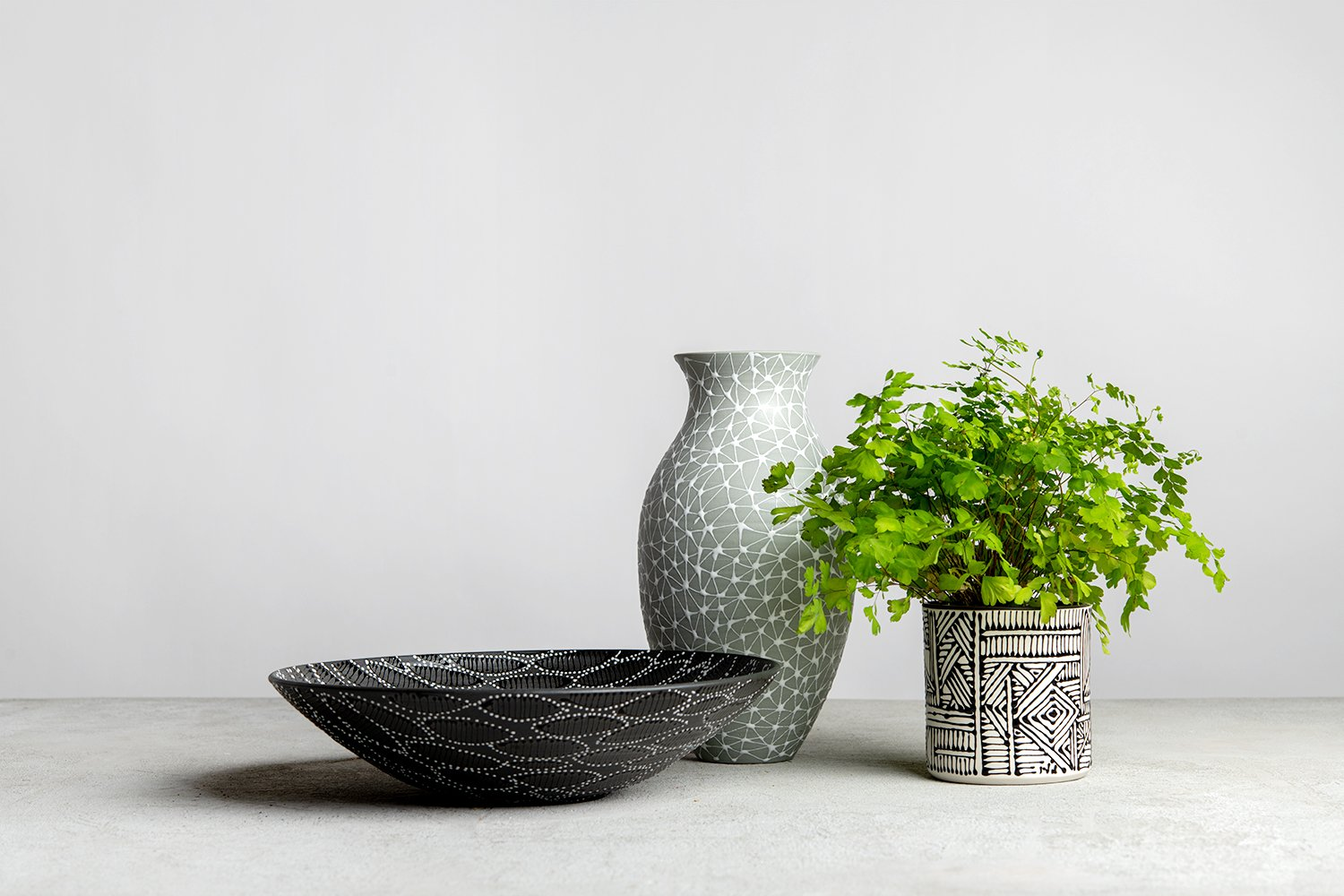 Cylindrical shaped planter