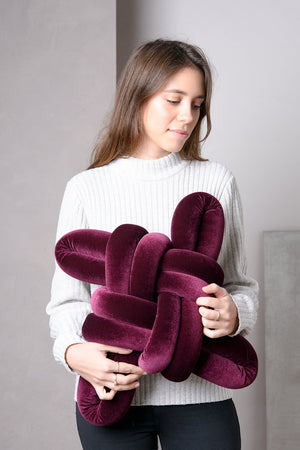 Open image in slideshow, Velvet Knot Pillow
