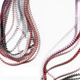Single Color Pleated Necklace
