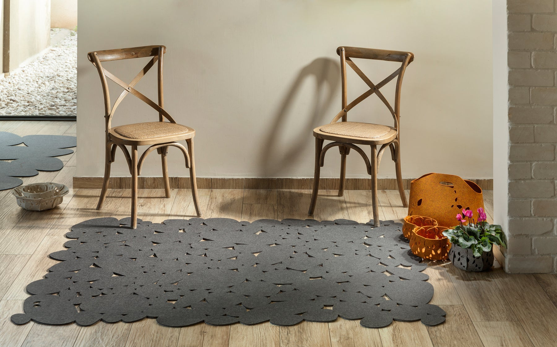 Felted Pebbles Rug