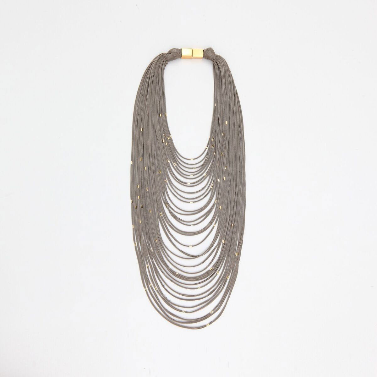 Spaghetti Necklace with silver studs