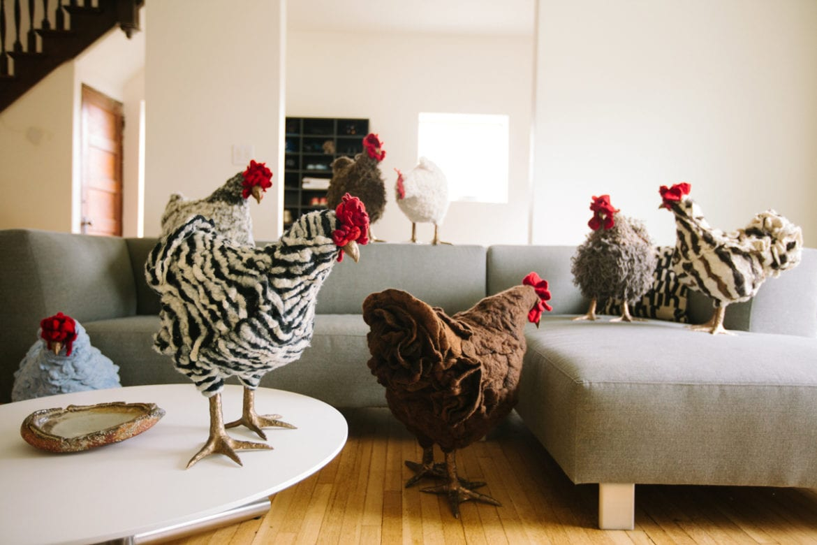 Chicken Footstools