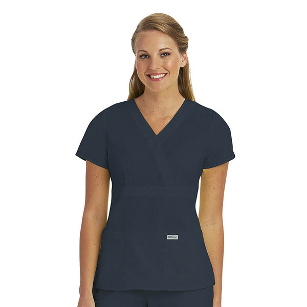4153 - Grey's Anatomy Women's Mock Wrap Top (CU)