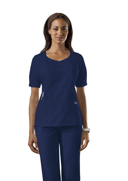 4746 - Cherokee Workwear Originals - Curved V-Neck Top (CC)