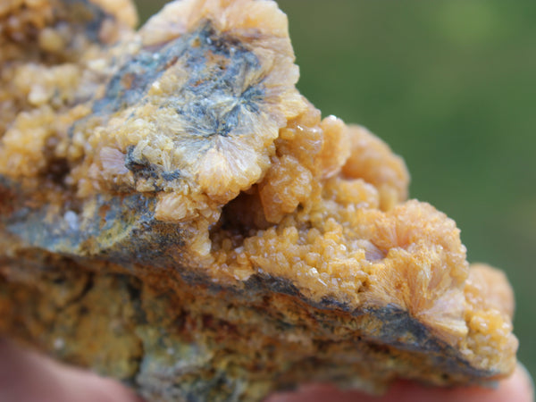 Orange Stilbite Cluster-GratefulGemHead