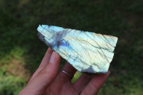 Multi-color Flash Labradorite-GratefulGemHead