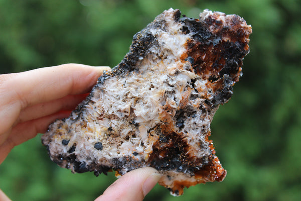 Self-Standing Vanadinite on Barite-GratefulGemHead