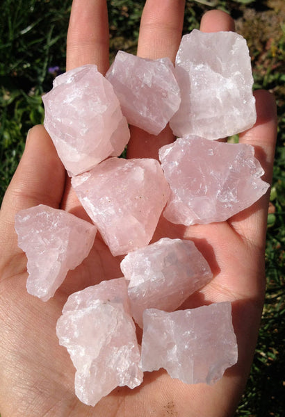 Rose Quartz Crystal - 10 pieces-GratefulGemHead