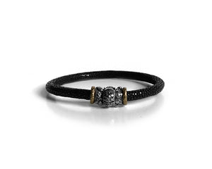 Skully Scaled Leather Bracelet