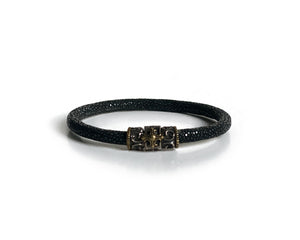 Crosswind Scaled Leather Bracelet