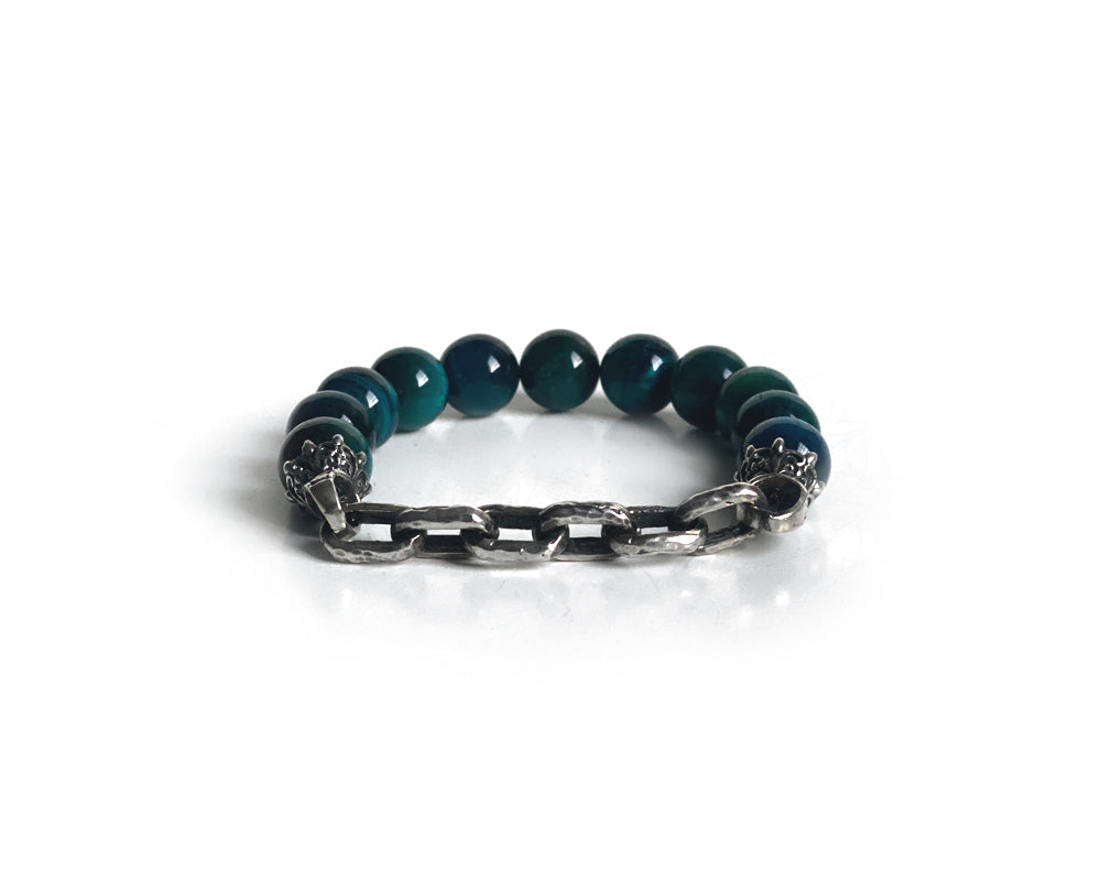 Cerulean Spiritual Antique Interlock Bracelet