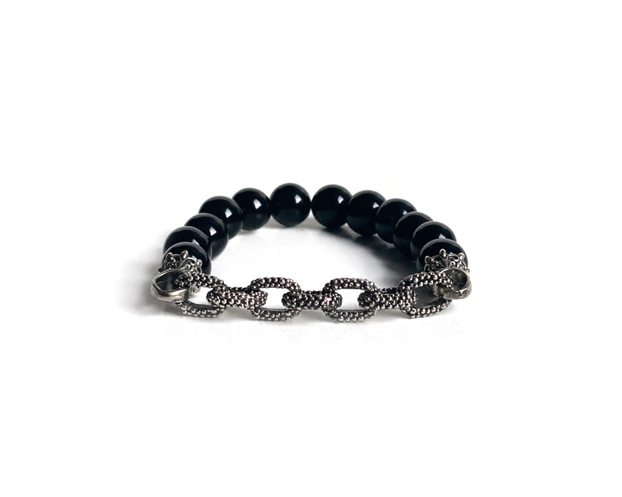 Onyx Spiritual Antique Interlock Bracelet