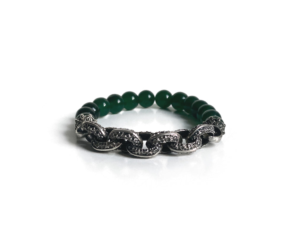 Jade Spiritual Antique Interlock Bracelet