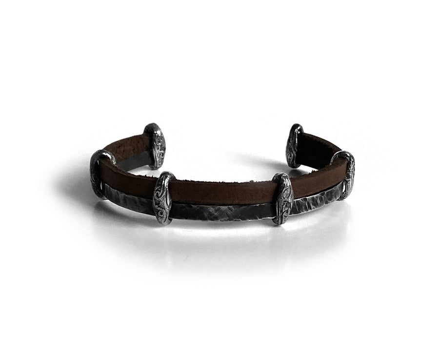 Vikings Desert Sand Leather Bracelet