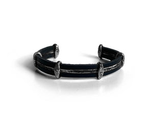 Vikings Pitch Leather Bracelet