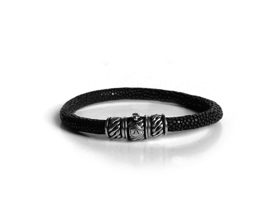 Shield Scaled Leather Bracelet