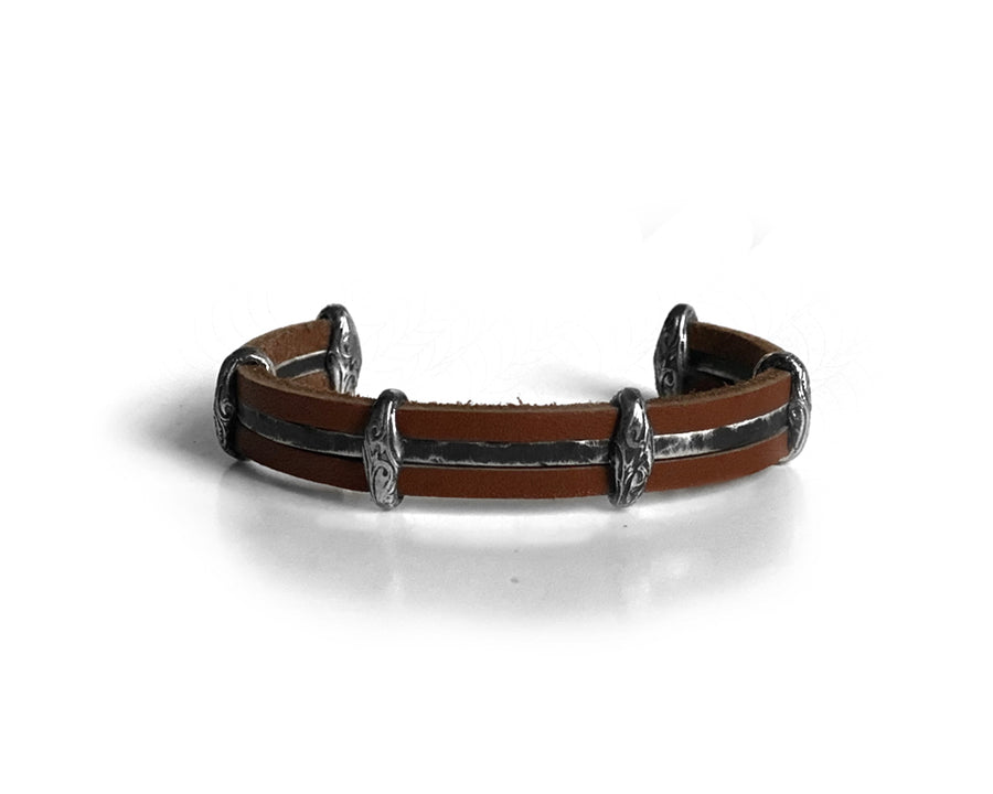 Vikings Sandlewood Leather Bracelet