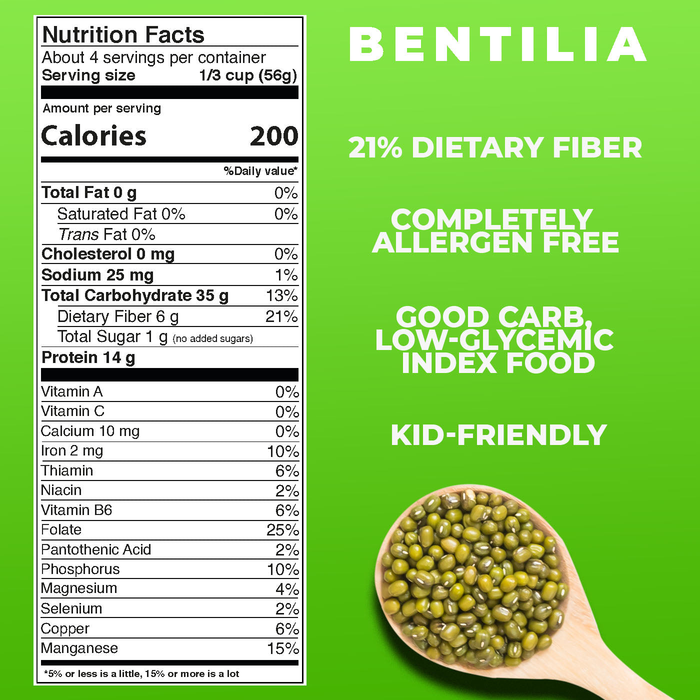 Green Lentil Elbow Macaroni Pasta 6x8oz