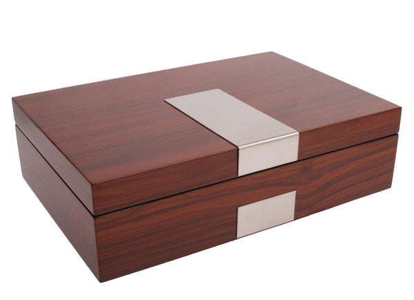 AXIS® Rosewood Wide Glossy Wood 8 Watch Box