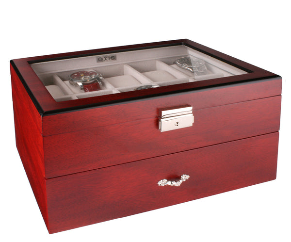 AXIS® Cherry Wooden Watch Storage Box For 20 Watches