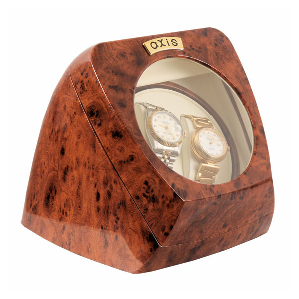 AXIS® Burl Dual Automatic 2 Watch Winder Rotator