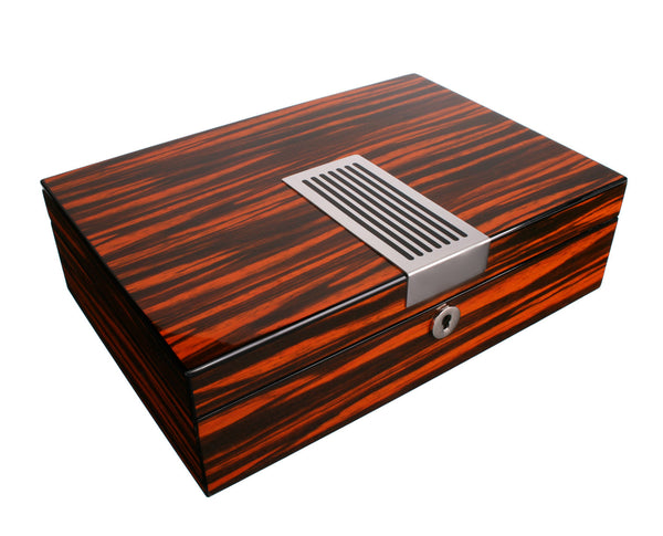 AXIS® Ebony Wood Wide Gloss Wooden 8 Watch Box