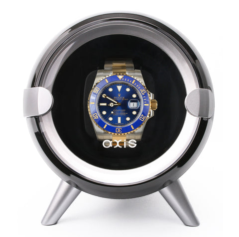AXIS® Single Automatic Watch Winder Black AXW090B New For 2016