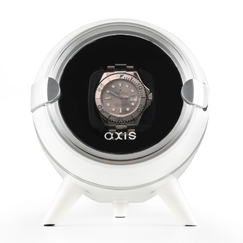 AXIS® Single Automatic Watch Winder White AXW090W New For 2016