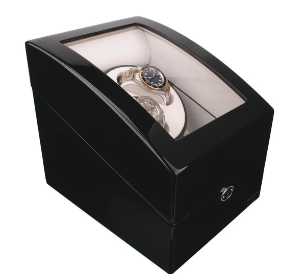 AXIS® Duo 2 Luxury Black High Gloss Dual Automatic Watch Winder