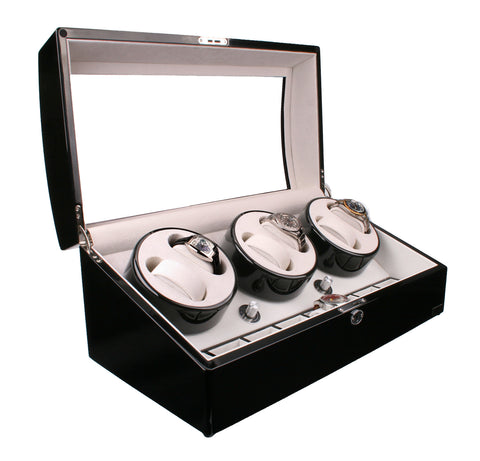 AXIS®  Luxury Automatic 6 Watch Winder New with 8 watch storage