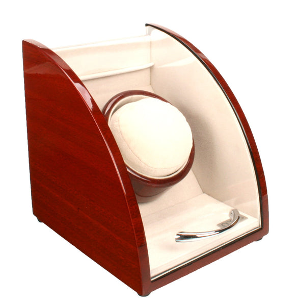 AXIS® Curved Cherry Finish Wooden Single Watch Winder