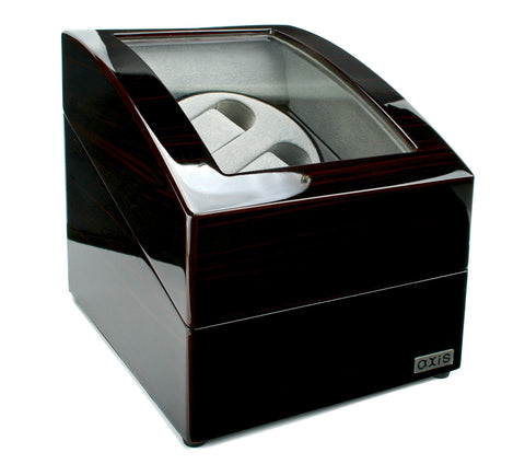AXIS® Duo 2 Luxury Ebony High Gloss Dual Automatic Watch Winder