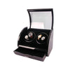 AXIS® - Luxury Quad Automatic 4 Watch Winder Rotator Piano Black Finish with Red