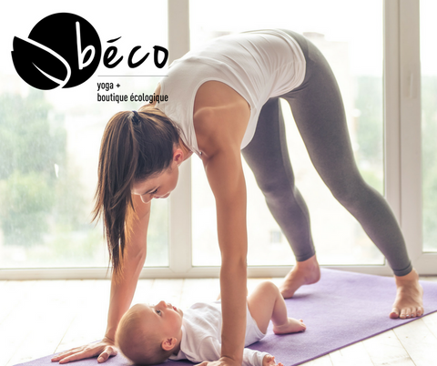 Mom & baby practicing yoga