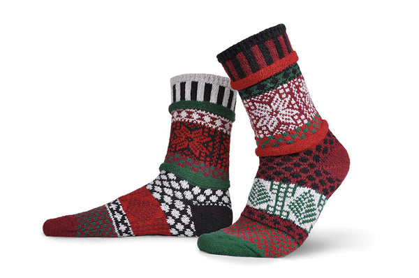 Poinsettia Adult Crew Socks