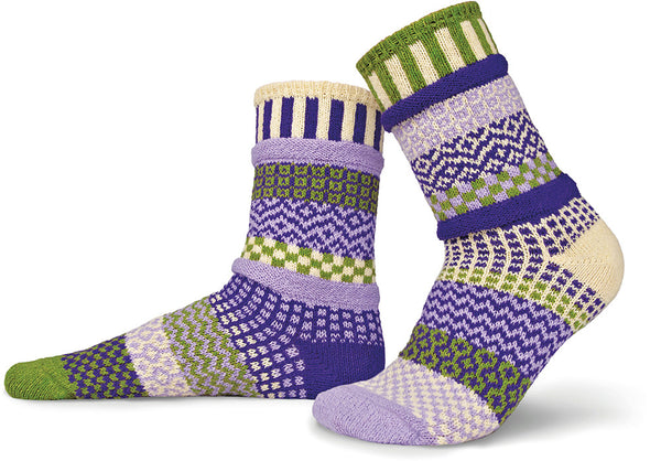 Orchid Adult Crew Socks