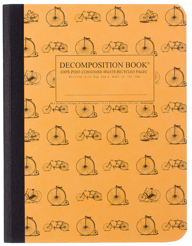 "Decomposition Notebook - ""Vintage Bicycles"""