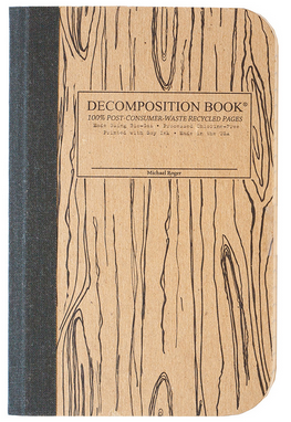 "Decomposition Pocket Notebook - ""Woodgrain"""