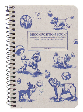 "Decomposition Coil Pocket Notebook - ""Dogs and Bubbles"""
