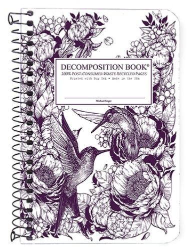"Decomposition Coil Pocket Notebook - ""Hummingbirds"""