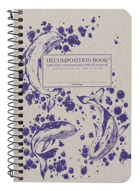 "Decomposition Coil Pocket Notebook - ""Humpback Whales"""