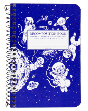 "Decomposition Coil Pocket Notebook - ""Kittens in Space"""