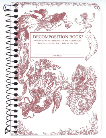 "Decomposition Coil Pocket Notebook - ""Mermaids"""