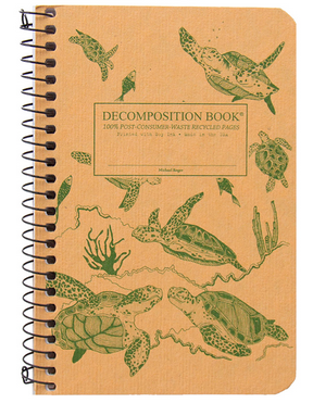 "Decomposition Coil Pocket Notebook - ""Sea Turtles"""