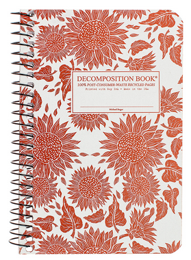 "Decomposition Coil Pocket Notebook - ""Sunflowers"""