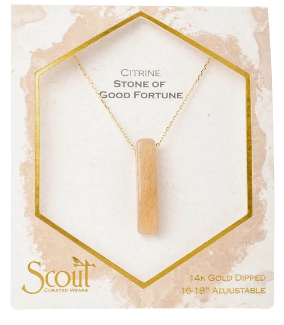 Stone Point Necklace - Citrine / Stone of Good Fortune