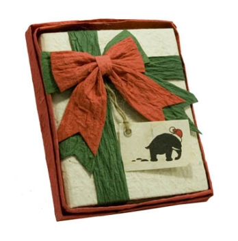 Mini-Journal with bow in red gift box (includes mini-greeting card)